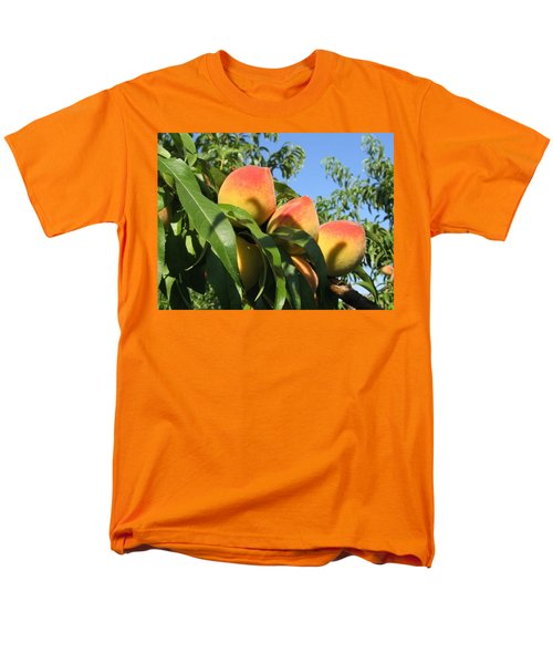 Peaches Men's T-Shirt  (Regular Fit) by Barbara Yearty