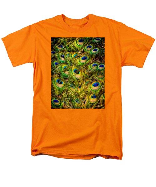 Men's T-Shirt  (Regular Fit) featuring the photograph Peacock Tails by Rikk Flohr