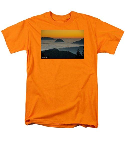 Peaks Above The Fog At Sunset Men's T-Shirt  (Regular Fit) by Jeff Goulden