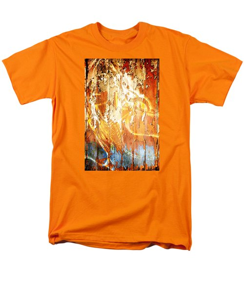 Men's T-Shirt  (Regular Fit) featuring the digital art Peeling Wall Portrait by Andrea Barbieri