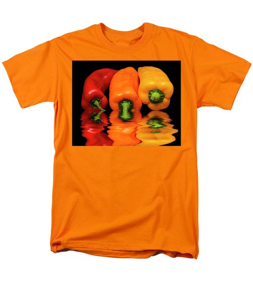 Men's T-Shirt  (Regular Fit) featuring the photograph Peppers Red Yellow Orange by David French