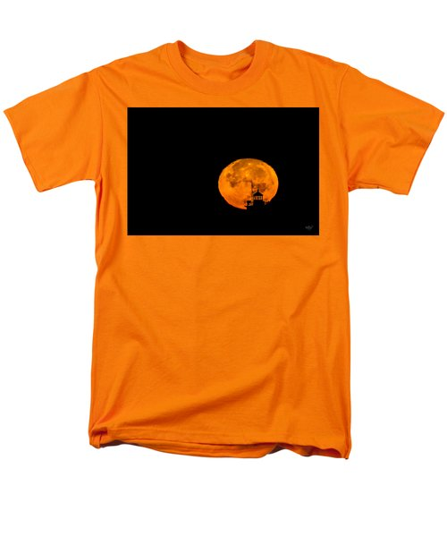 Men's T-Shirt  (Regular Fit) featuring the photograph Pierhead Supermoon Silhouette by Everet Regal