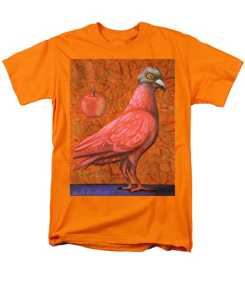 Men's T-Shirt  (Regular Fit) featuring the painting Pink Lady by Leah Saulnier The Painting Maniac