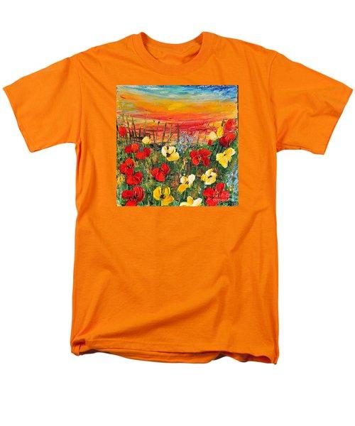 Poppies Men's T-Shirt  (Regular Fit) by Teresa Wegrzyn