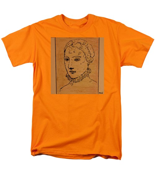 Men's T-Shirt  (Regular Fit) featuring the drawing Portrait Of Anne by Bill OConnor