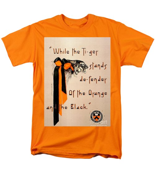Men's T-Shirt  (Regular Fit) featuring the painting Poster - Princeton Tigers by Pg Reproductions