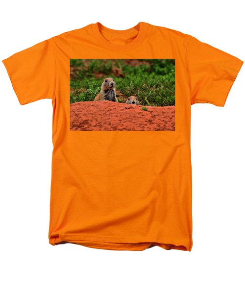 Men's T-Shirt  (Regular Fit) featuring the photograph Prairie Dogs 004 by George Bostian