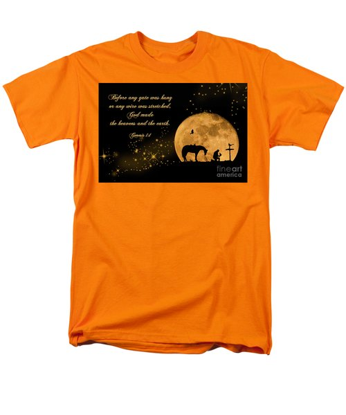 Men's T-Shirt  (Regular Fit) featuring the photograph Prayer Of A Cowboy by Bonnie Barry