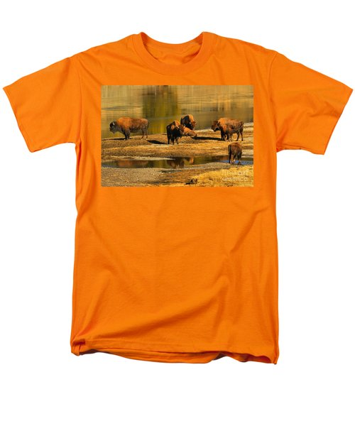 Men's T-Shirt  (Regular Fit) featuring the photograph Preparing To Cross The Yellowstone River by Adam Jewell