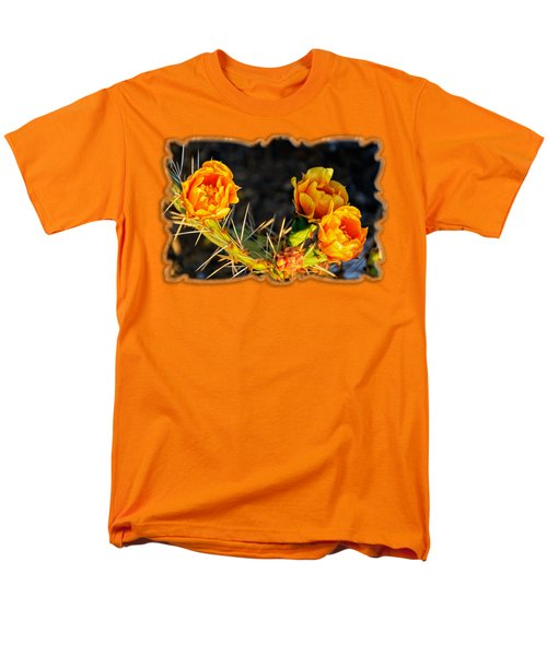 Prickly Pear Flowers Op49 Men's T-Shirt  (Regular Fit) by Mark Myhaver
