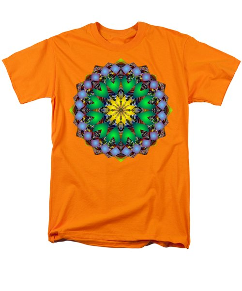 Psychedelic Mandala 003 A Men's T-Shirt  (Regular Fit) by Larry Capra