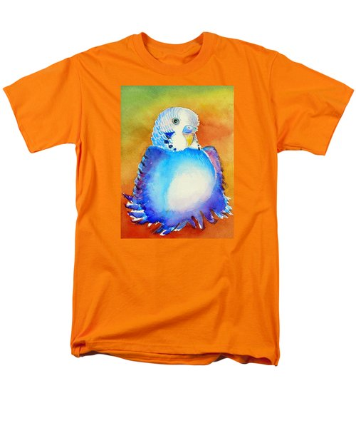 Pudgy Budgie Men's T-Shirt  (Regular Fit) by Patricia Piffath