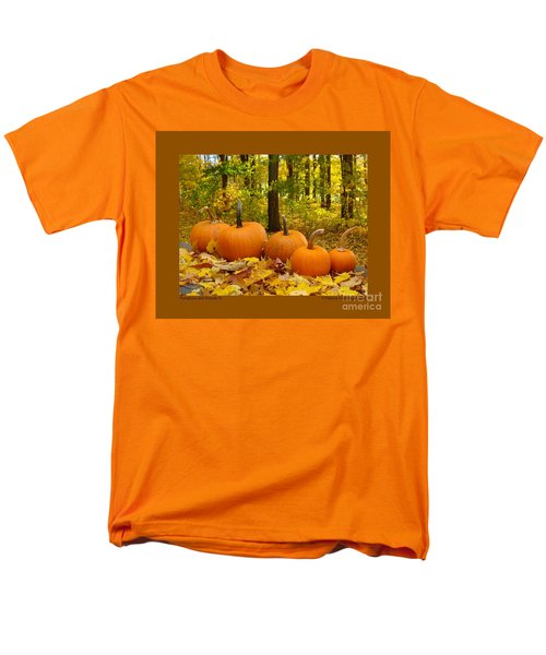 Pumpkins And Woods-iii Men's T-Shirt  (Regular Fit) by Patricia Overmoyer