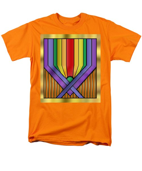 Men's T-Shirt  (Regular Fit) featuring the digital art Rainbow Base Transparent by Chuck Staley