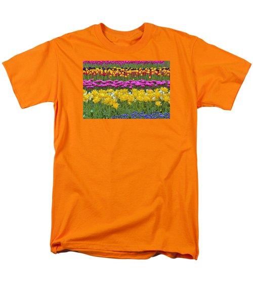 Rainbow Flowers Men's T-Shirt  (Regular Fit) by Nadia Sanowar