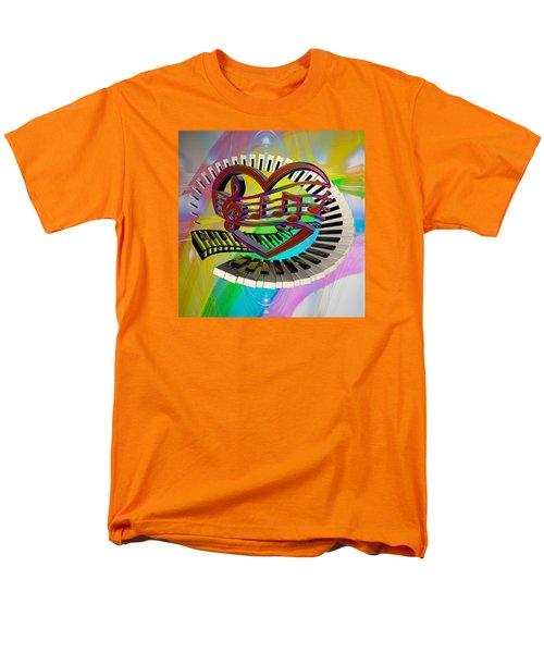 Rainbow Love Of Music  Men's T-Shirt  (Regular Fit) by Louis Ferreira