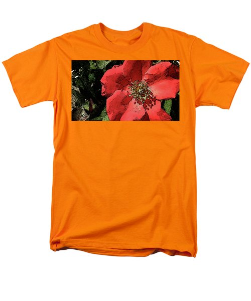 Men's T-Shirt  (Regular Fit) featuring the photograph Rambling Rose by Donna G Smith