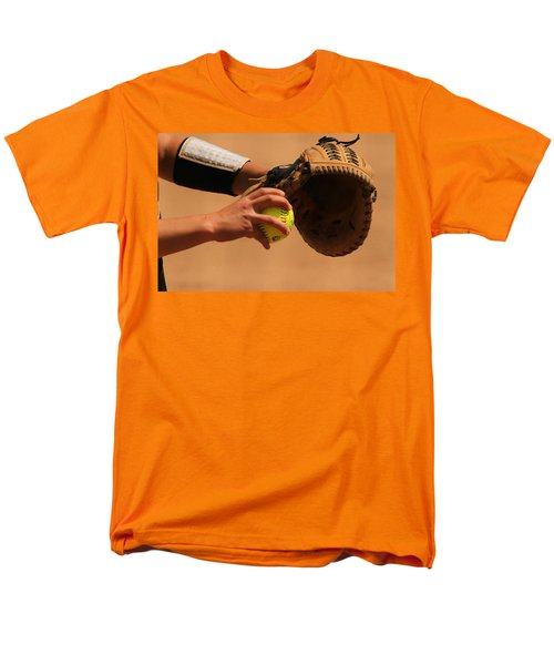 Recoiling Into A Throw Men's T-Shirt  (Regular Fit) by Laddie Halupa