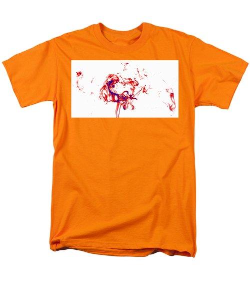 Red And Blue Twirrl Men's T-Shirt  (Regular Fit) by Rainer Kersten