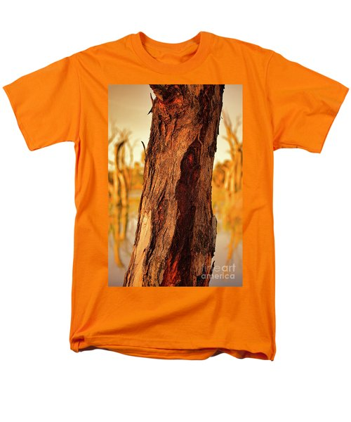 Men's T-Shirt  (Regular Fit) featuring the photograph Red Bark by Douglas Barnard