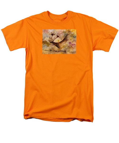 Men's T-Shirt  (Regular Fit) featuring the painting Red Deer by Hailey E Herrera