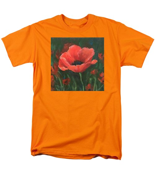 Red Poppy Men's T-Shirt  (Regular Fit) by Torrie Smiley