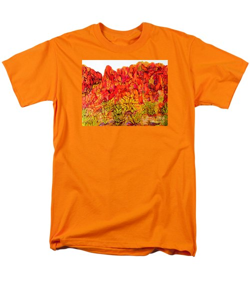 Red Rock Canyon Veiw From The Loop Men's T-Shirt  (Regular Fit) by Vicki  Housel