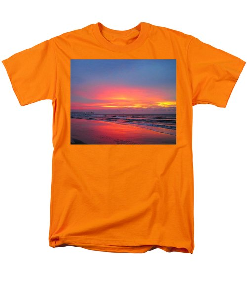 Red Sky At Morning Men's T-Shirt  (Regular Fit) by Betty Buller Whitehead
