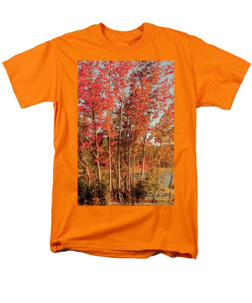 Men's T-Shirt  (Regular Fit) featuring the photograph Red Trees by Iris Greenwell