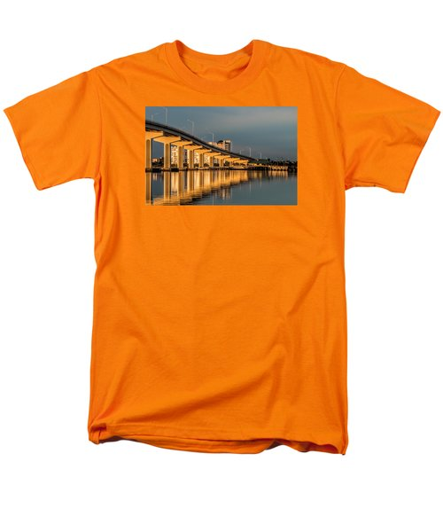 Reflections And Bridge Men's T-Shirt  (Regular Fit) by Dorothy Cunningham