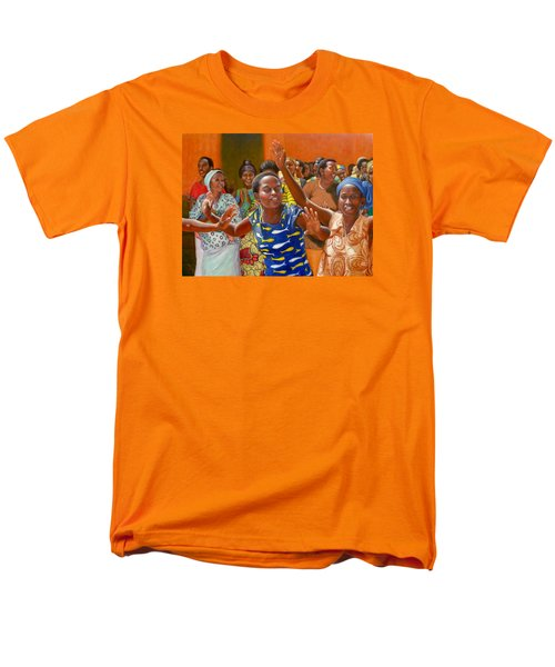 Men's T-Shirt  (Regular Fit) featuring the painting Rejoice by Donelli  DiMaria