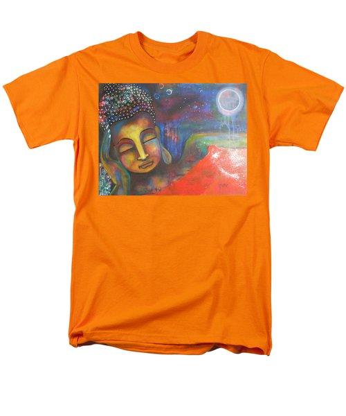 Buddha Resting Under The Full Moon  Men's T-Shirt  (Regular Fit) by Prerna Poojara