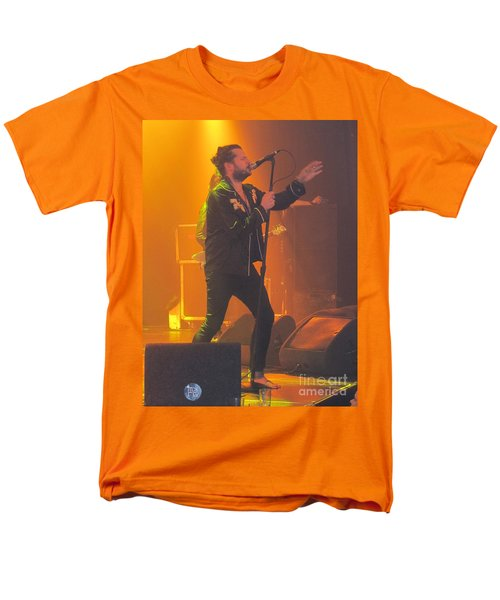 Men's T-Shirt  (Regular Fit) featuring the photograph Rival Sons Jay Buchanan by Jeepee Aero