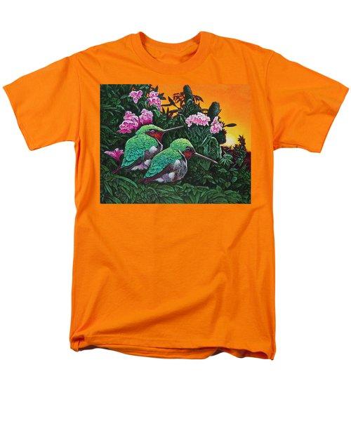 Ruby-throated Hummingbirds Men's T-Shirt  (Regular Fit) by Michael Frank