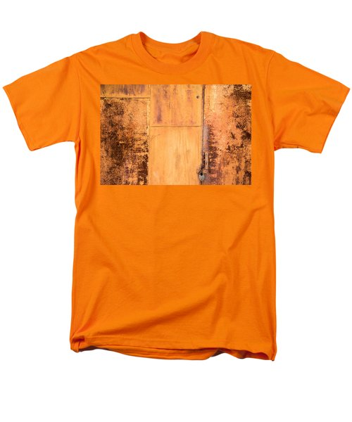 Men's T-Shirt  (Regular Fit) featuring the photograph Rust On Metal Texture by John Williams