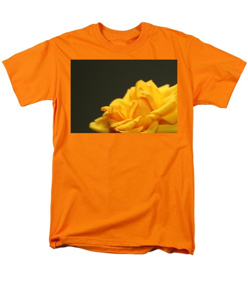 Men's T-Shirt  (Regular Fit) featuring the painting Saffron Mini Rose by Marna Edwards Flavell