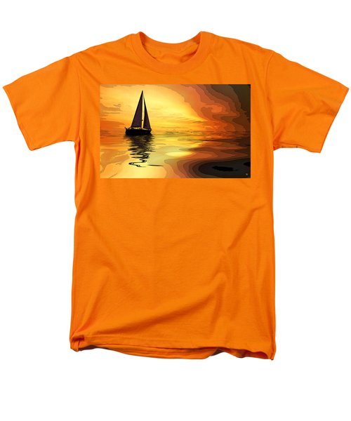 Sailboat At Sunset Men's T-Shirt  (Regular Fit)