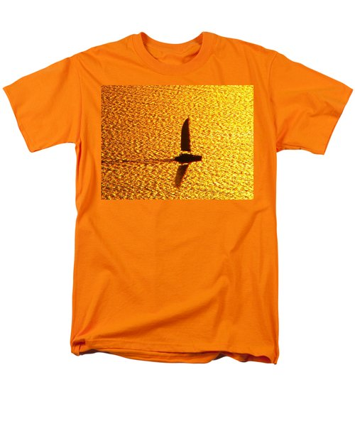 Men's T-Shirt  (Regular Fit) featuring the photograph Sailing On Gold by Ana Maria Edulescu