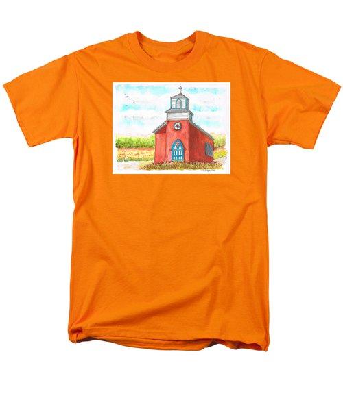 San Rafael Church In La Cueva, New Mexico Men's T-Shirt  (Regular Fit) by Carlos G Groppa
