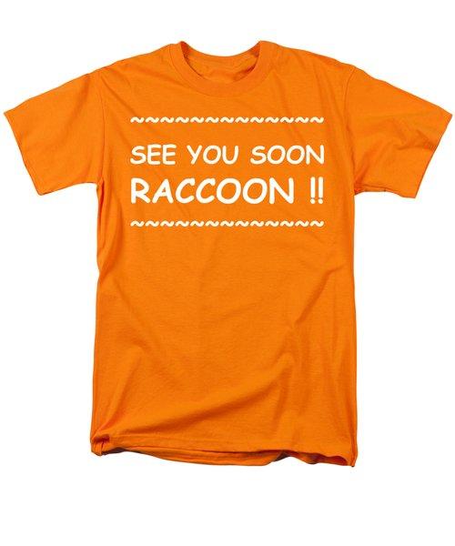 See You Soon Raccoon Men's T-Shirt  (Regular Fit) by Michelle Saraswati