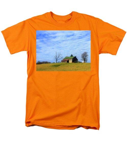 Serenity Barn And Blue Skies Men's T-Shirt  (Regular Fit) by Tina M Wenger