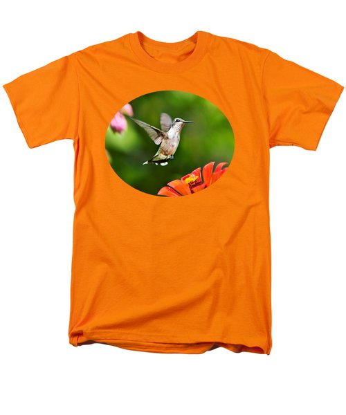 Shimmering Breeze Hummingbird Men's T-Shirt  (Regular Fit) by Christina Rollo