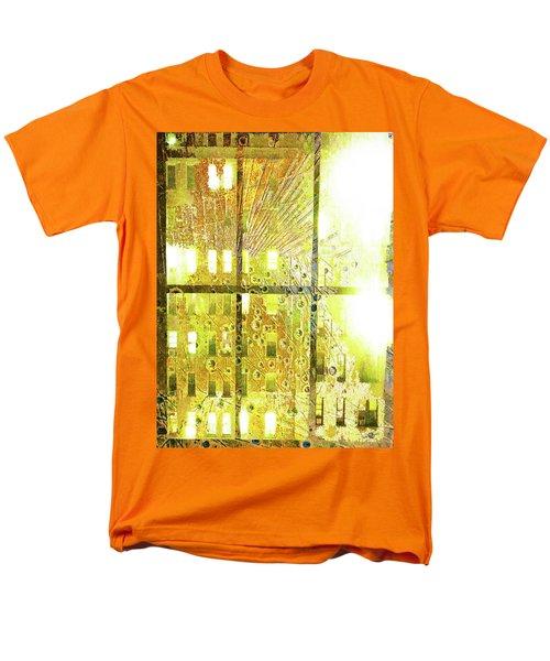 Men's T-Shirt  (Regular Fit) featuring the mixed media Shine A Light by Tony Rubino