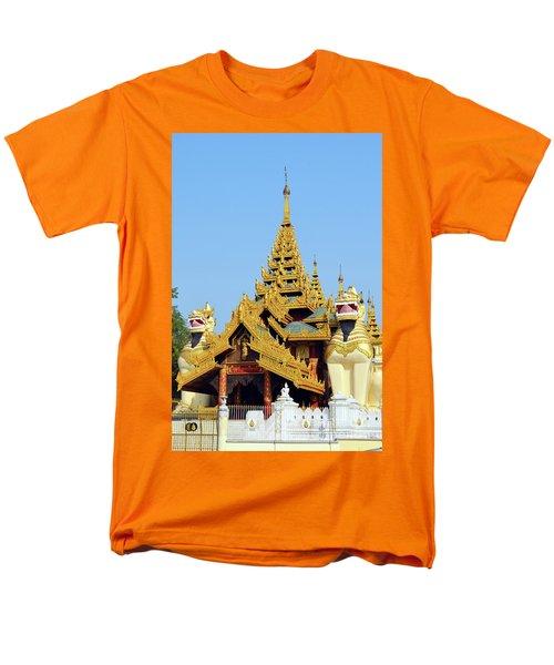 Men's T-Shirt  (Regular Fit) featuring the digital art Shwedagon Pagoda 1 by Eva Kaufman