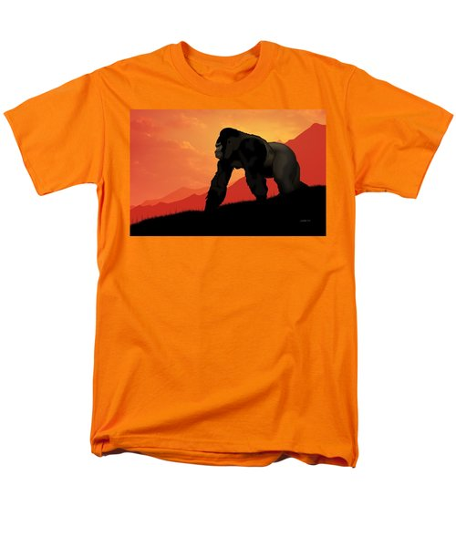 Silverback Gorilla Men's T-Shirt  (Regular Fit) by John Wills