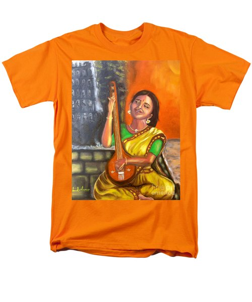 Men's T-Shirt  (Regular Fit) featuring the painting Singing @ Sunrise  by Brindha Naveen