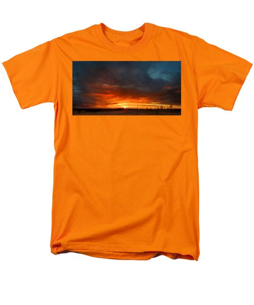 Men's T-Shirt  (Regular Fit) featuring the photograph Sky On Fire by Rod Seel