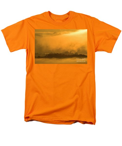 Men's T-Shirt  (Regular Fit) featuring the photograph sland in the Mist - D009994 by Daniel Dempster