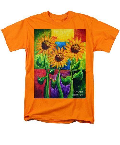 Men's T-Shirt  (Regular Fit) featuring the painting Sonflowers II by Holly Carmichael