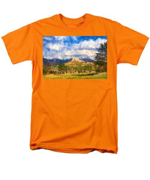 Castle Above The Village Men's T-Shirt  (Regular Fit) by Les Palenik